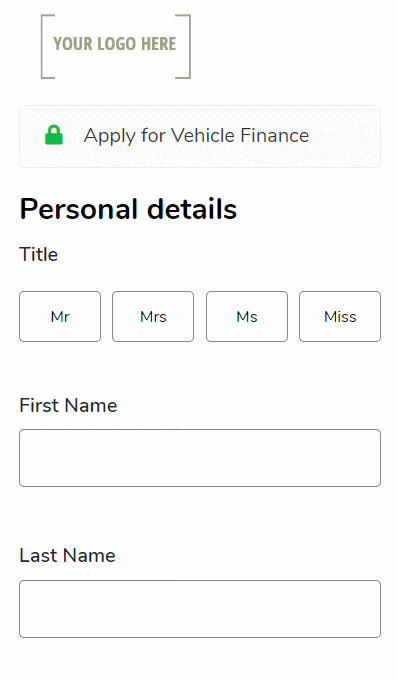 Iframe Application Form
